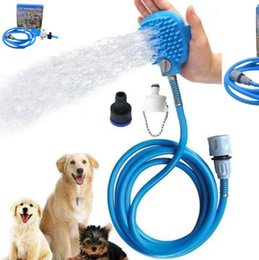 Wholesale Plastic Scrubbers - Pet Bathing Tool Dog Grooming Massager Tool Shower Cleaning Bath Sprayer Palm-Sized Dog Scrubber Sprayer With Retail Box CCA9384 24pcs