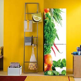Fai da te 3D effetto creativo frutta verdura frigo adesivo Art Decor PVC frigorifero porta cucina autoadesivo adesivo rimovibile impermeabile vinile da decorazione di ortaggi fornitori