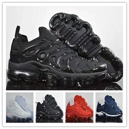 Wholesale Newest Casual Shoes - Newest Vapormax TN Plus Running Shoes 2018 Men Triple Casual Air Cushion Sport Athletic Boost Hiking Jogging Sneakers Outdoor Shoes 40-45