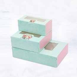 Wholesale window cookie boxes - 20 pcs Paper box windows wedding kids sweet birthday cake kraft gift paper packaging box for  baking candy cookies supplier