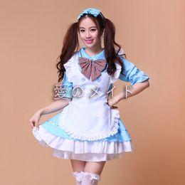 2019 vestido de carnaval vintage Mulheres meninas lolita estilo bonito japão empregada avental dress com bowtie cosplay presente mulit cor m-xl