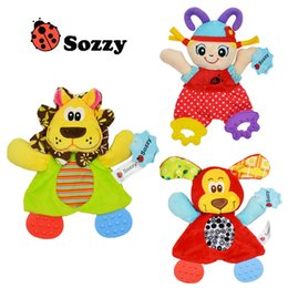 Wholesale Orange Baby Doll - Sozzy Baby Teether Newborn Preferred Appease Towel Toys Cute Cartoon Playmate Calm Doll Teether Developmental Stuffed Toy Speelgoed Mordedor