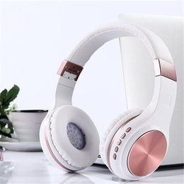 Wholesale music folders - New Folder Wireless Bluetooth TF Card Headset with Bluetooth 4.1 Stereo Mobile Music Stereo Headset Lowered For Iphone Android
