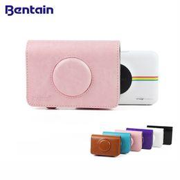 Bolsa para cámara polaroid online-Cubierta colorida de la PU del bolso de la cámara del cuero de la PU del vintage para Polaroid Snap Touch para el caso de las cámaras rápidas de Polaroid