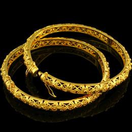 2019 oro etioco Intera venditaNuovo etiope Bangle donne oro colore Dubai sposa matrimonio africano / arabo / Medio Oriente braccialetto / braccialetto gioielli oro etioco economici