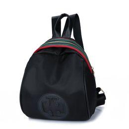Wholesale School Bags Handbags - Backpack Women Fashion School Bags Luxury Handbags Strap Striped Famous Brand Zipper Backpacks Shoulder Mochila Soft Travel Lady Back Pack