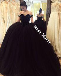 Robe de bal noire gothique arabe robes de bal 2020 hors épaule velours plus la taille gonflée Tulle princesse mascarade robes de soirée de fiançailles ? partir de fabricateur