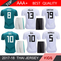 OZIL MULLER 2018 World Cup Soccer Sets GOTZE KROOS REUS BOY Football Kits  GerMANy KIDS Home Away Soccer Jersey Shorts Wears 38907b1d4