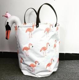 3 tasarım ins Flamingolar Depolama Sepeti Çantası Giysi Oyuncaklar Saklama Kutusu Çeşitli Eşyalar Kumaş Katlama Organizatör Çanta KKA5871 nereden