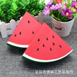 Wholesale Toy Factory Wholesale - Factory Watermelon Squishy Fruit Squishiy Toys Simulation Food For Key Ring Phone Chain Toys Gifts All Kinds Of Style