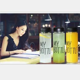 2019 envasado de botellas de agua Mi botella Botella de agua Estilo de Corea Nuevo diseño Hoy Plástico especial Deportes Botellas de agua Vasos con bolsa Paquete al por menor envasado de botellas de agua baratos
