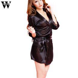 Wholesale Nighty Dressed Women Sexy - 2018 nighty dress sexy women cotton solid sleepwear women nightdress Fashion Classic Bathrobe dec29