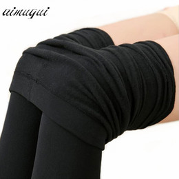 8eff34429 Mulheres Sexy Calças Justas Calças Slim Microfibra Formal Fleece Linho Forrado  Meia-calça Feminina Meia-calça De Veludo Quente Para O Inverno