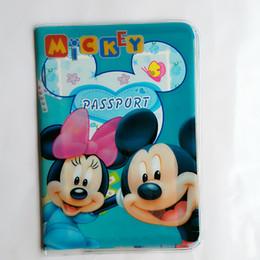 cubierta de la tarjeta de identificación de pvc Rebajas Cartoon And Minny Capa Passaporte ID Card Holder PVC Leather 3D Design Business Card Bag Pasaporte Cubierta 14 * 9.6 CM