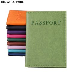 Wholesale Travel Documents Case - 2017 New Fashion PU Leather Passport Cover Documents Bag Girl Passport Holder Travel Pouch ID Card Package Case for Women Men