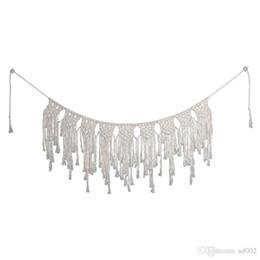 Argentina Bohemia estilo hecho a mano tapicería tejer cortina muebles para el hogar colgante de la boda decoración de la pared colgando de fibra de arte favor regalos 28 sj ii Suministro