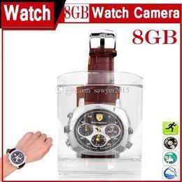 Wholesale Новейшая мода водонепроницаемые часы Pinhole камеры GB GB наручные часы MINI DV DVR спортивные часы камеры