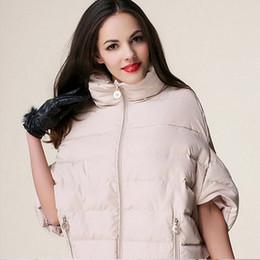 Wholesale Types Jacket Women - Fashion Womens Winter Coat Bat Sleeve Jackets Female Cloak Type Coat Female Loose Casual Parka Warm Wadded Cotton Jacket C1097