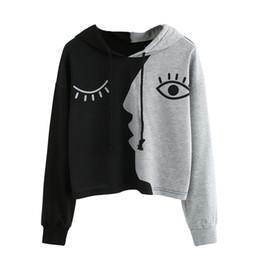Wholesale Wholesale Ladies Sweatshirts - JAYCOSIN Women Ladies Sweatshirt Hooded Long Sleeve Crop Patchwork Blouse Pullover Tops Women Long Sleeve Hoodies JA25 2018