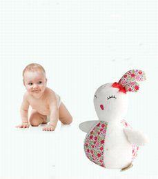 Wholesale teddy bear bedding - Baby Bed Handing Bell Toy Soft Plush Rabbit Ringing Stuffed Plush Animals Baby Best Gift