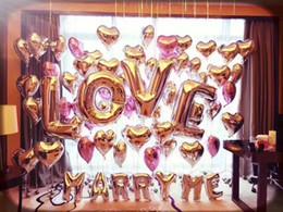 le luci stellate gialle stellate Sconti LOVE Letter Balloons Creativo in alluminio Film romantico Set pasto Flamingo per matrimoni Decorazioni di compleanno Rifornimenti del partito Vendita calda