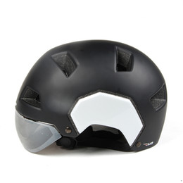 cycling helmet cover NZ - V3 Half Covered Retro Vintage Cycling Helmet Bike Scooter Helmet with Visor Goggles Cycling Equipment M L