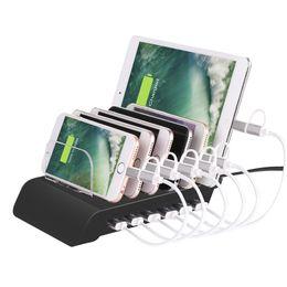 2019 ipad iphone docking station ladegerät Desk USB Ladestation UD06 Universal abnehmbare 6 Ports Dock 5V 10.2A Halterungen Halter Ladegerät für iPhone iPad Smartphone Tablethones