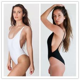Wholesale Womens Black One Piece Bodysuit - High Cut Swimsuit Womens Bodysuit One Piece Sexy Women Swimwear Bathing Suits Beach Wear lady Monokini Black Red White