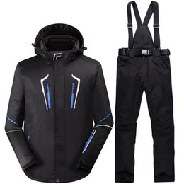 Wholesale Orange Snowboarding Jackets - Wholesale- SNOW Winter -35 Degrees Men Ski Suit Waterproof 10000mm Male Snowboarding Suits Super Warm Ski jacket + Pants Outdoor Sport