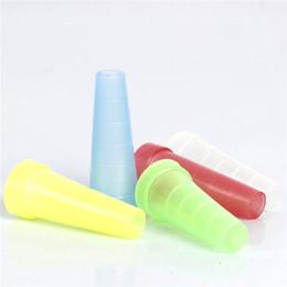 2019 punte a goccia lunghe Test Narghilè Shisha Cap coperchio 510 boccaglio monouso in plastica bocca suggerimenti sani per e-narghilè tubo dell'acqua trasporto veloce lungo punte a goccia lunghe economici