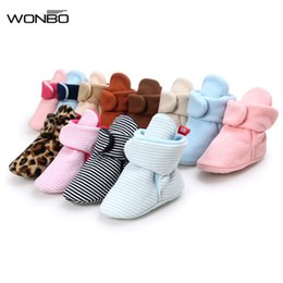 Wholesale Pink Newborn Booties - Newborn Baby Unisex Kids Shoes Winter Infant Toddler Super Keep Warm Crib Classic Floor Boys Girls Boots Booty Booties
