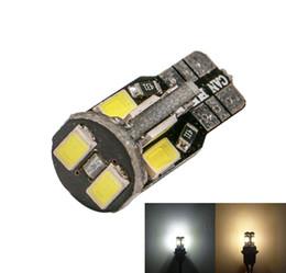 Warmweiß geführtes kfz-kennzeichen online-T10 Wedge W5W 194 5730 10 SMD LED Ersatz Innenleuchten für Dome Tür Lampe Kennzeichenbeleuchtung Weiß Warm Weiß 12 V