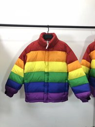 5ceb7955b0e 2018 High Quality colours of the rainbow Down Jacket men coat Snow parkas  male Warm Brand Clothing winter Down Jacket Outerwear