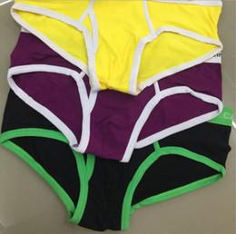 Wholesale Green Briefs - New Vogue Men Underwear Briefs Cotton Luxury Sexy Underwear Mens Boxers Casual Shorts Small Letter Around Men Breathable Underwears