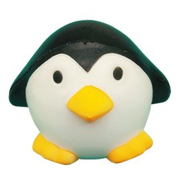 Wholesale Penguin Key Chain - Squishy 12cm Penguin Squeeze Slow Rising Toy Hot Classic Cartoon Penguin Relieve Stress Home Decorate Phone Strap Charms Key Chain Kid Toy