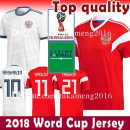 Wholesale russia football - Russia Soccer Jersey 2018 world cup VAZIN POLOZ GLUSHAKOV ARSHAVIN DZAGOEV KOKORIN ZABOLOTNY Football Shirts 5 10 11 7 8 17 9
