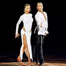 tutu de ballet adulto por atacado Desconto New sexy dança latina dress mulheres moda estilo branco salsa tango vestidos lady rumba flamenco competição trajes de dança b205