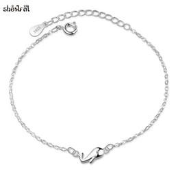 Браслеты для девочек онлайн-Милые животные браслеты маленький кит браслет для женщин Девушки регулируемая цепь подвески браслеты браслеты простые ювелирные изделия Bijoux