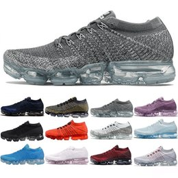 Wholesale A1 Rubber - 2017 New Rainbow VaporMax 2018 BE TRUE Men Woman Shock Running Shoes For Real Quality Fashion Men Casual Vapor Maxes Sports Sneakers A1