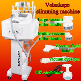 Wholesale Infrared Body Shaping - Portable velashape slimming machine velashape infrared rf roller massage Vacuum Machine Velashape body shaping beauty machine