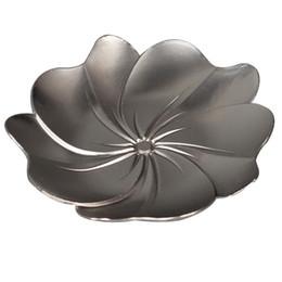 Canada Kung Fu Thé Bronze Argent En Alliage de Zinc Métal Saucer Coaster Vente Chaude Style Chinois Thé Coaster Fournitures Maison Livraison Gratuite Offre