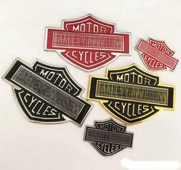 Decalcomanie in metallo online-Fantastico emblema del distintivo del motociclo del metallo 3D Autoadesivo dell'automobile del logo degli accessori Auto divertente che disegna le decalcomanie del metallo per Harle Yamaha ecc