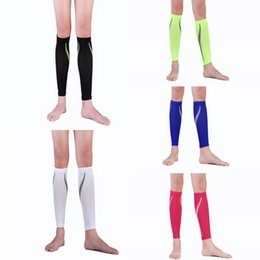 Wholesale knee sleeve sock - Outdoor Sport Pressure Socks Leggings Calf Compression Sleeve Socks For Basketball Football Running Support FBA Drop Shipping G473Q