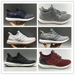 Wholesale mystery black - Ultra Boost 3.0 4.0 Running Shoes Real Boost Triple Oreo Mystery Grey LTD Multicolor Men Women UltraBoost Sports Sneakers size 36-45