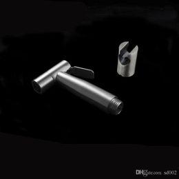 2019 suporte para bidé Casa de Banho Bidé Pulverizador Pistola de Água Handheld Com suporte de Parede Titular Cabeça de Chuveiro de Aço Inoxidável Limpa Artigos Venda Quente 30ss WW suporte para bidé barato