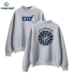 Wholesale Fleece Turtleneck Women - KPOP BTS Sweatshirts Fashion Fleece Hoodies Should Aid The Lovers Loose Sweatshirt kpop bts Women Men Tracksuit Outerwears