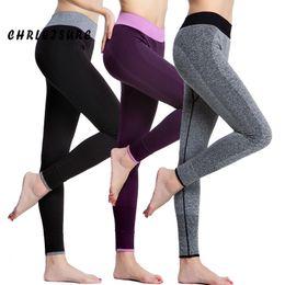 Wholesale super slimming leggings - Chrleisure Women Leggings Spandex Slim Elastic Comfortable High Waist Super Stretch Workout Trousers Sporting Leggings Women