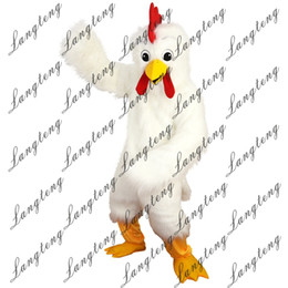 Wholesale Chicken Costume White - 2018 New high quality white eagle bird chicken Mascot costumes for adults circus christmas Halloween Outfit Fancy Dress Suit Free Shipping