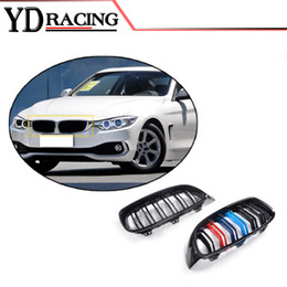 Wholesale Car Gloss - Car Styling ABS Mesh Gloss Auto Front Grill Grille For BMW 4 Series F32 F33 F36 F82 F80 M3 M4 Coupe Convertible 2013-2017