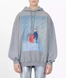 2019 high-end-sweatshirts 2019 grau brief cartoon print frauen sweatshirts mit hoodies high end casual hoodies frauen totoro marke designer jumper rabatt high-end-sweatshirts